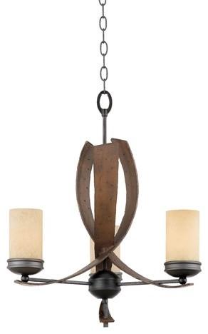 Recycled Aizen 3 Light Chandelier modern-chandeliers
