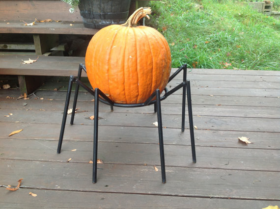 Halloween Spider Pumpkin Stand by Simply Snowman Designs contemporary-outdoor-holiday-decorations