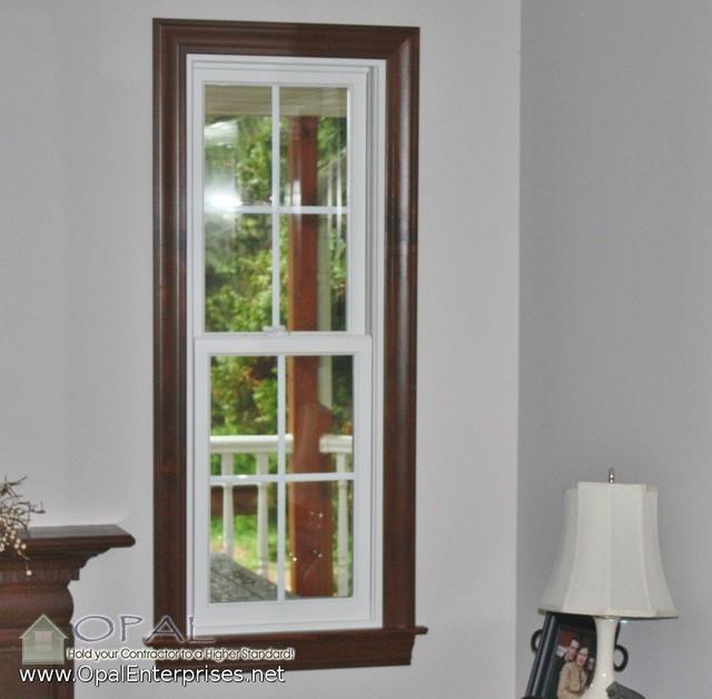 Decorating White Windows With Wood Trim Inspiring