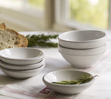 Gabriella Snack Bowl, White traditional-dining-bowls