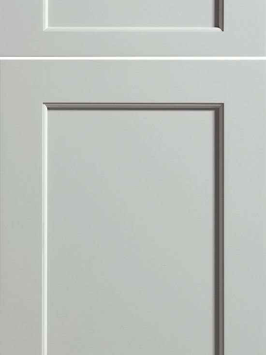 """Dura Supreme Cabinetry - Dura Supreme Cabinetry Highland Cabinet Door Style - Dura Supreme Cabinetry """"Highland"""" cabinet door style in Paintable shown with Dura Supreme's """"Silver Mist"""" gray paint finish."""
