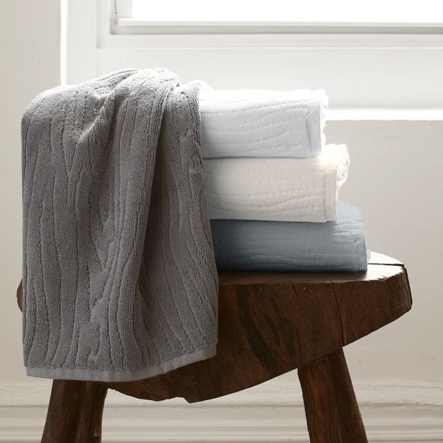 Organic Woodgrain Towel contemporary towels