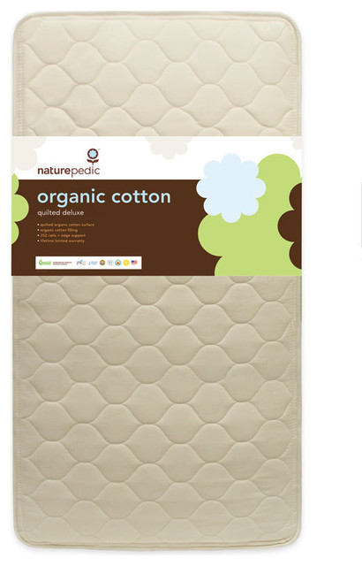 Naturepedic Quilted Organic Cotton Deluxe Crib Mattress traditional-crib-mattresses