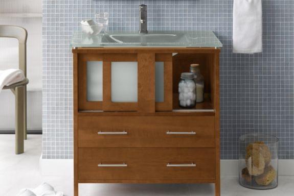 Bathroom Vanity Cabinets: Minerva - Contemporary ...