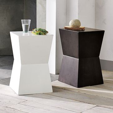 Rustic Block Side Table | west elm contemporary side tables and accent tables