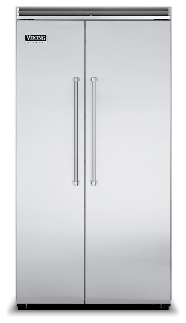 """Viking 42"""" Built-in Side By Side Refrigerator Stainless Steel   VCSB5422SS refrigerators-and-freezers"""