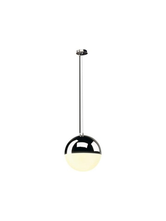 SLV Lighting - SLV Lighting | Big Light Eye Pendant Light - Design by SLV Lighting.Like an eye watching over you in the sky the Big Light Eye Pendant Light brings a heavenly glow to your space. This clean modern pendant looks great on its own and even better when clustered together. Made of steel and diffused glass. Provides ambient and diffused light.