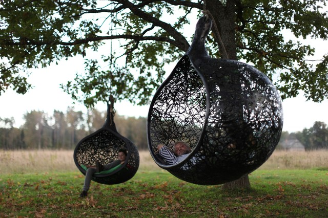 Manu Nest Hanging Chair contemporary-outdoor-lounge-chairs