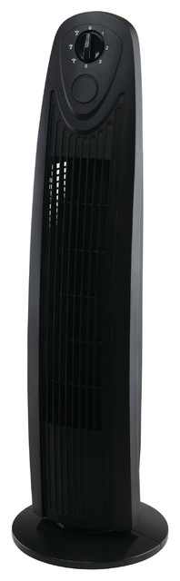 17-Inch Desktop Ultra Slim Oscillating Tower Fan contemporary-electric-fans