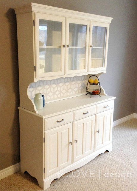 Modern White Hutch - Modern - China Cabinets And Hutches - other metro - by reLOVE design