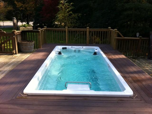 17 39 Endless Pool Swim Spa Modern Hot Tub And Pool Supplies