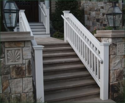 Jamestown Railing with Safety Rail traditional-outdoor-grills