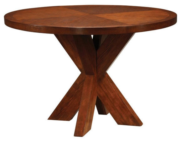 Modus Hudson Dining Round X-Base Dining Table contemporary-dining-tables