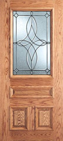 Diamond Design Decorative Glass 3 Panel 1 2 Lite Front