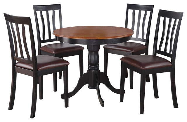 5 Pc Kitchen Nook Dining Set Small Table As Well As 4