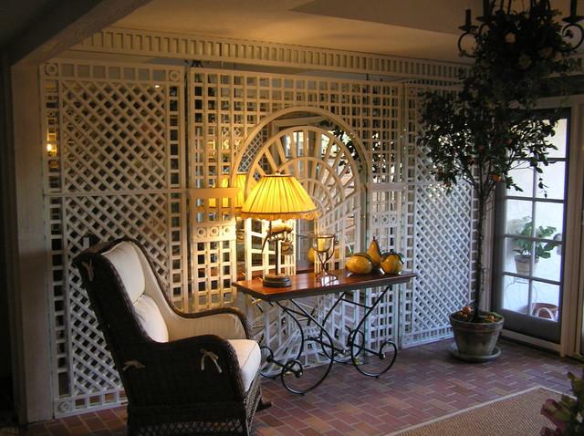 Garden Sunroom With Trompe L Oeil Painting Walls Amp Trellis
