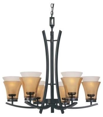 Designers Fountain 83186 Majorca 6 Light Chandelier in oil-rubbed bronze finish modern-chandeliers