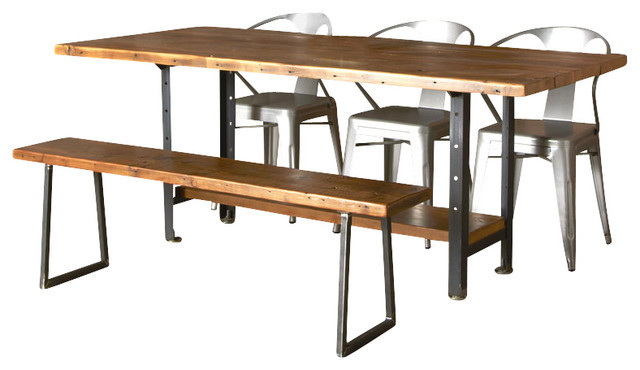Machine age reclaimed wood dining table industrial dining tables by urban wood goods - Industrial kitchen tables ...