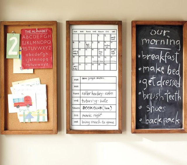 daily organization system modern bulletin boards and