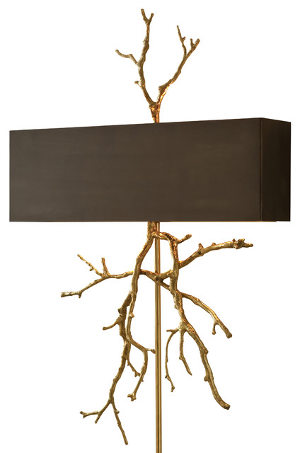 Twig Electrified Wall Sconce, Brass - Transitional - Wall Sconces - by Masins Furniture