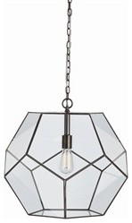 Tenley Large Bronze Iron/Glass Faceted Pendant modern-pendant-lighting