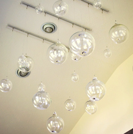 Hang Delicate Glass Balls Traditional Dining Room