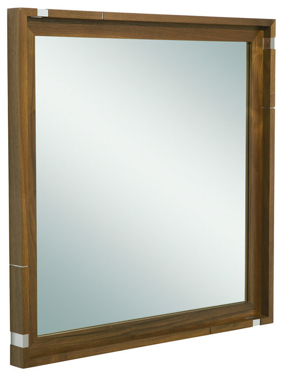 Vir Stil by Laura Kirar Mirror, Black Walnut -