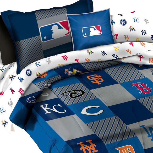 MLB Bedding Set League Baseball Teams 5-Piece Twin Bed - Contemporary - Kids Bedding - by oBedding