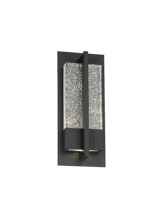 WAC Modern Forms - WAC Modern Forms | Omni 16 Inch LED Outdoor Wall Light - Design by Modern Forms.The Omni 16 Inch LED Outdoor Wall Light features LEDs that sparkle mesmerizingly through glacial glass for interior and exterior applications. Weather proof stainless steel or bronze finishes complete this inspiring sconce.