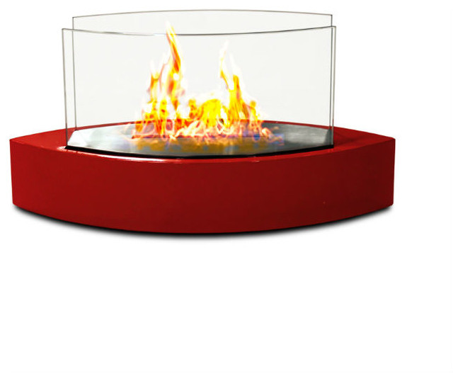 Lexington Tabletop Bio Ethanol Fireplace Red Modern Tabletop Fireplaces By Home Clever Inc
