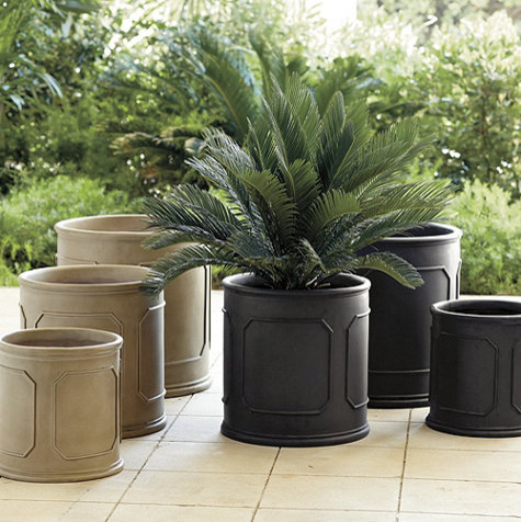 Chapelle Round Planter Traditional Indoor Pots And Planters By Ballard