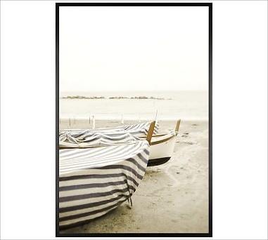 """Lupen Grainne Framed Print, Boat Cover, No Mat, 28 x 42"""", Black traditional-artwork"""