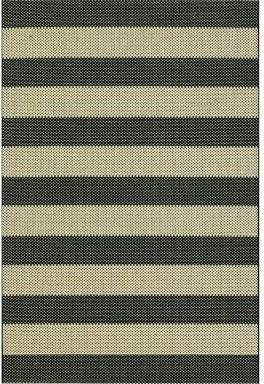 Direct Home Textiles Four Seasons® Textured Stripe Black Rug, Black modern-rugs