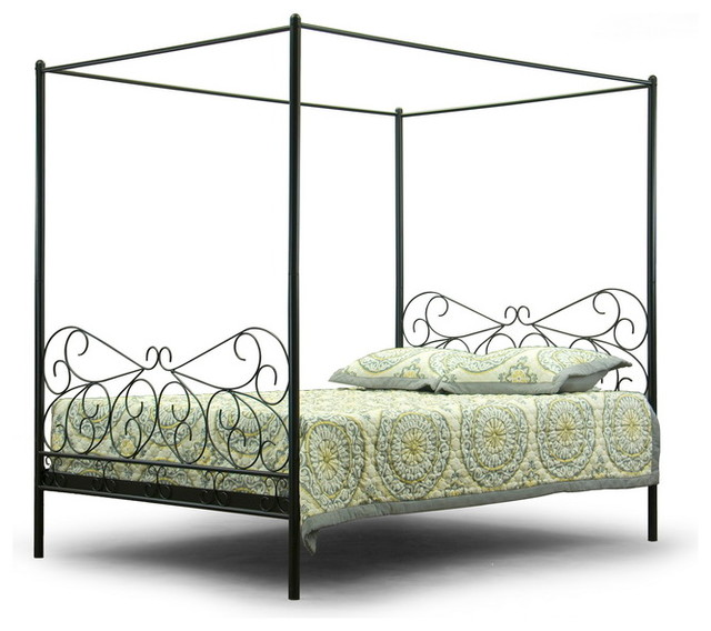 Baxton Studio Antiquity Metal Contemporary Queen-Size ...
