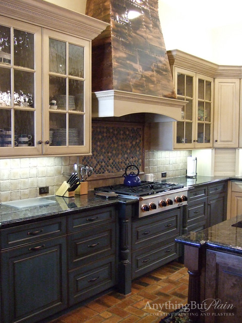 Cabinetry With Antique Finish Kitchen Cabinetry