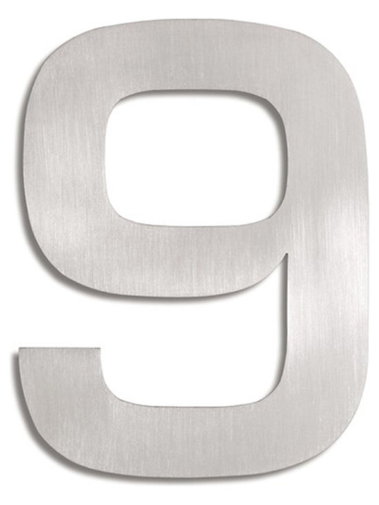 Blomus - Signo Stainless Steel House Number - 9 - Let everyone know where your house is with these stainless steel address markers. Easy to mount with simple instructions included. Brushed matte finish.