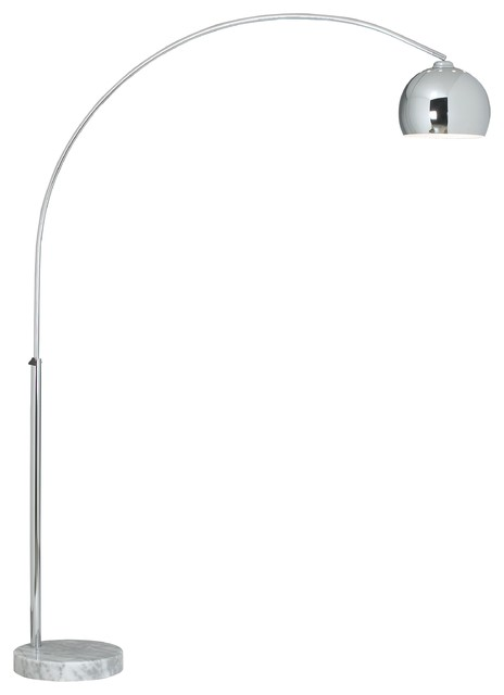 George Kovacs Polished Chrome Arc Floor Lamp - modern - floor ...