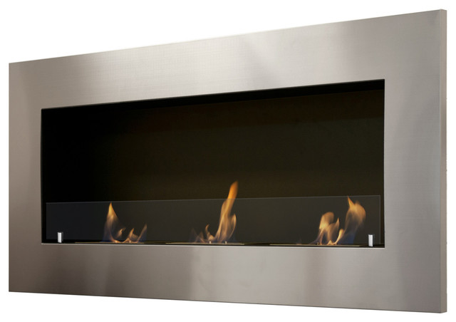 Optimum Wall Mounted Recessed Ventless Ethanol Fireplace