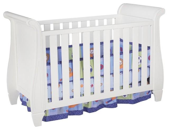 Simmons Kids Slumber Time Hutton Sleigh Crib - White Ambiance traditional-cribs