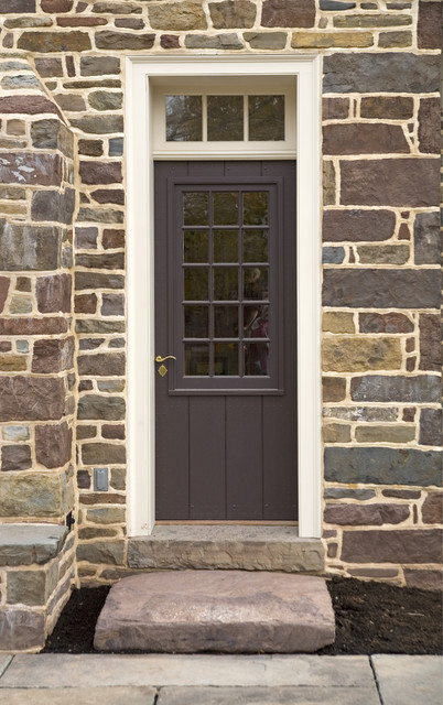 Exterior door with large window sash traditional front for External door with window