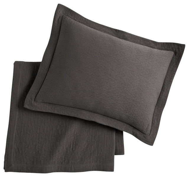 Bradley Coverlet, Graphite, Twin contemporary-quilts-and-quilt-sets