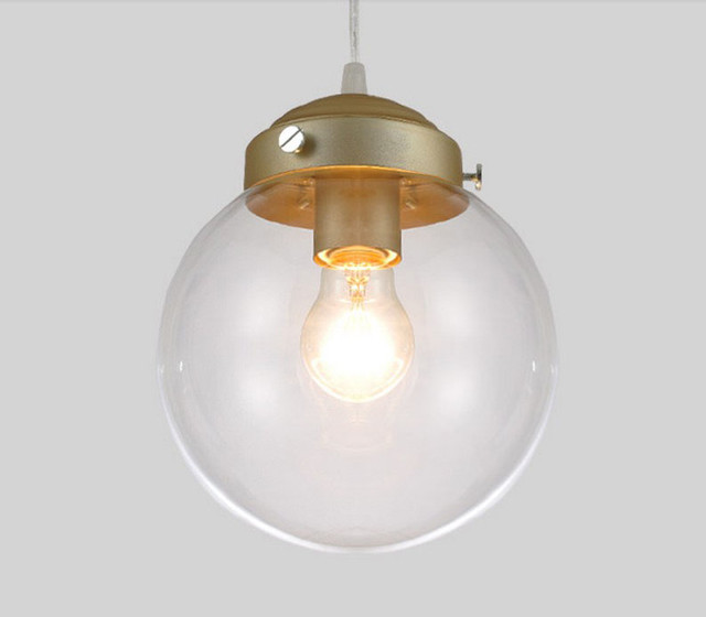 Modern Country Glass Ball Pendant Lighting - contemporary ...