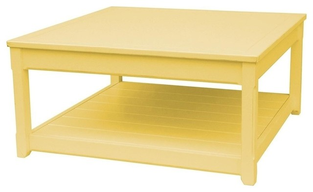New Coffee Table Yellow Painted Hardwood Traditional Coffee Tables By Euroluxhome