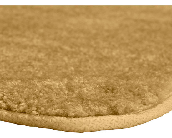 "Sands Rug - Plush Deluxe Washable Bath Rug (2'6"" x 4'2"") - Relish the luxurious softness of the Plush Deluxe bathroom collection. Add a note of tasteful color to your most relaxing space, while enjoying the easy-to-clean features of nylon and the added safety of each rug's non-skid backing."