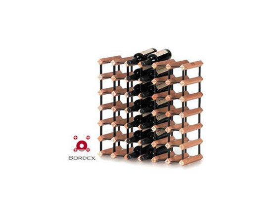 Bordex 42 Bottle Wine Rack Kit - Bordex commercial wine racks are the most space saving units in the world and their unique residential modular racks are available in a range of kit sizes and can also be custom made to accommodate any size wall or cabinetry. Made from quality hardwood plantation timber and baked enamel steel, every Bordex wine rack is manufactured to the highest standard.