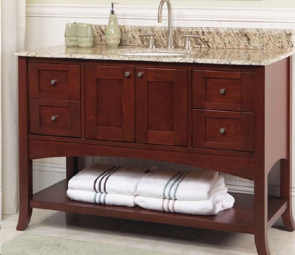 Fairmont Designs Shaker 125 Vh48 185 Vh48 Contemporary Bathroom Vanities And Sink Consoles