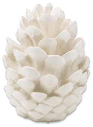 Porcelain Pinecones modern holiday decorations