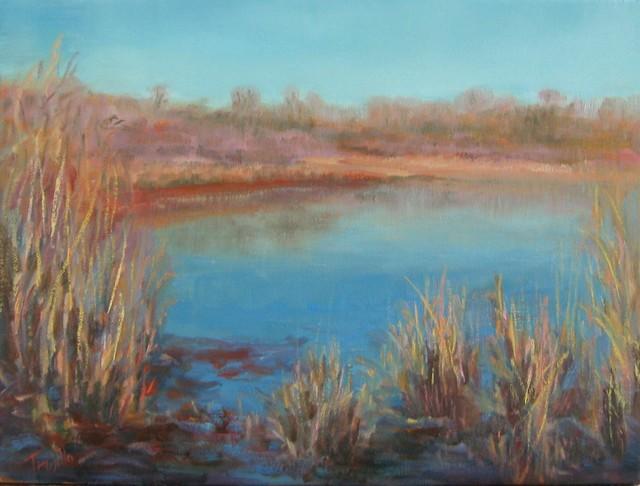 Winter Wetlands, Original, Painting contemporary-paintings