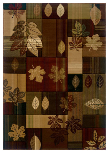 """United Weavers of America Contours/CEM Autumn Bliss 5'3"""" x 7'6"""" Area Rugs modern-rugs"""