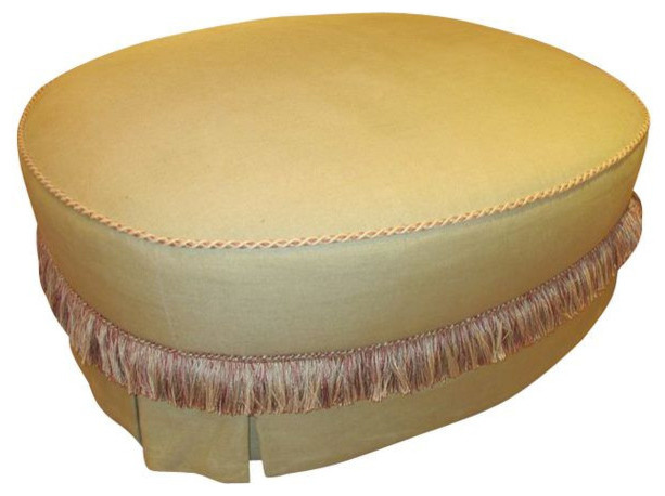 SOLD OUT! Oval Ottoman from Witford SF - $1,200 Est. Retail - $350 on Chairish.c transitional-footstools-and-ottomans